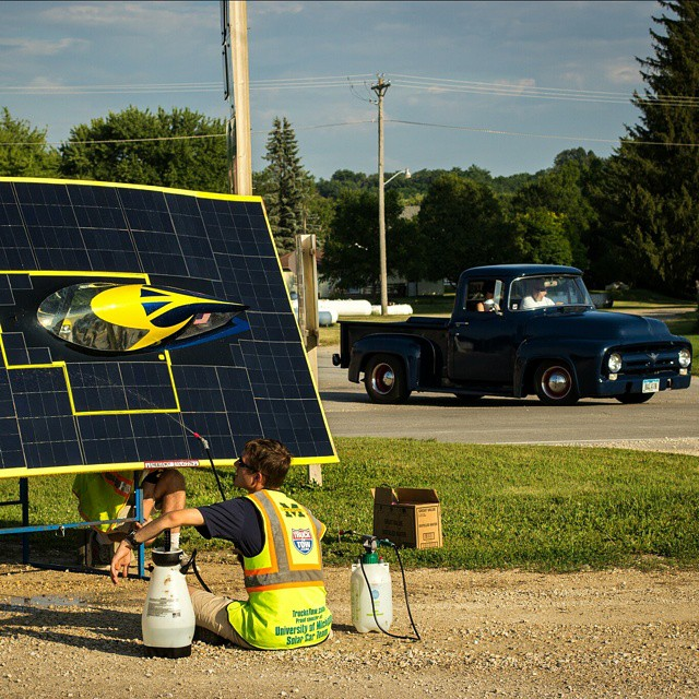 We sponsor the @UMSolarCarTeam and we are the #1 provider of classic car parts - #TheBestofBothWorlds  #NAPAKnowHow #Solar #UM #Michigan #Hybrid #racing