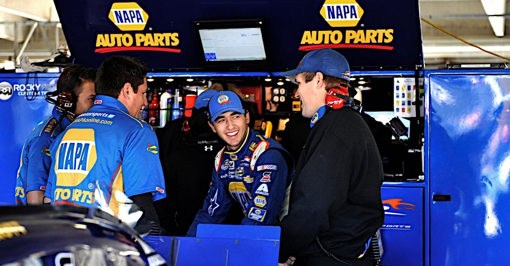 Chase Elliott during Nationwide practice at Texas Motor Speedway in Fort Worth, TX.