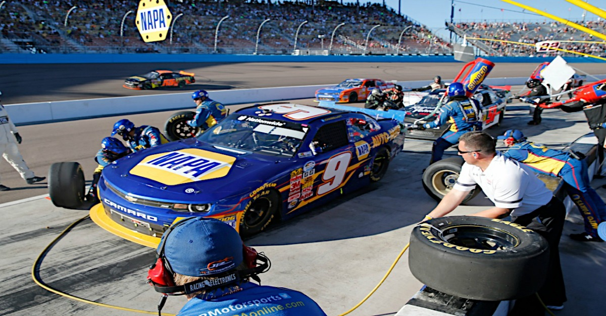 Chase Elliott during the NASCAR Nationwide Series DAV 200 - Honoring America's Veterans race at Phoenix International Raceway, Avondale, AZ.
