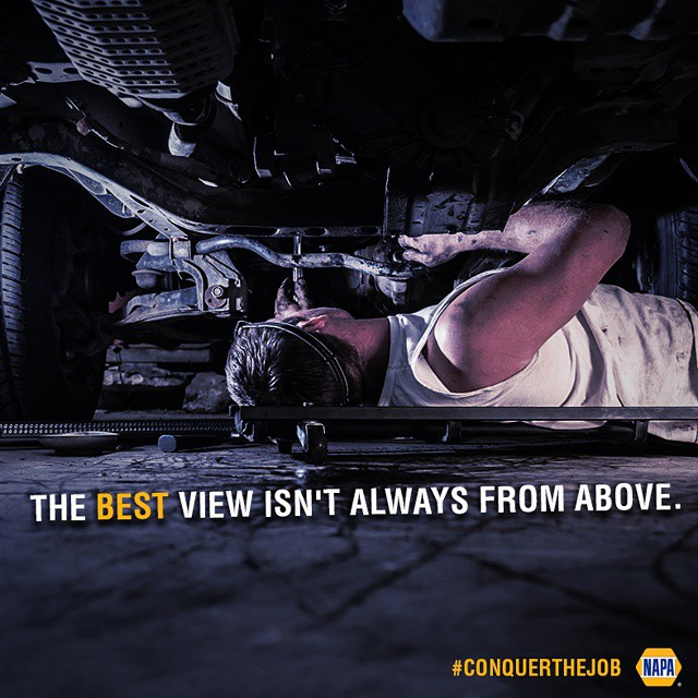 More often than not, conquering the job means attacking it from different angles.  #NAPAKnowHow #conquerthejob #DIY #mechanic #shop #view #NAPAAUTOPARTS
