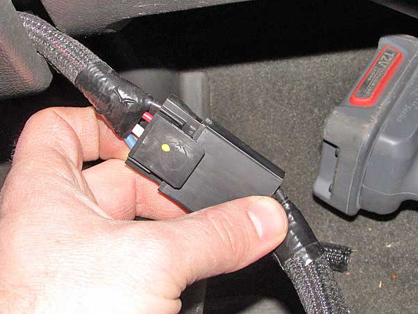 The harness is a direct plug-in to the controller.