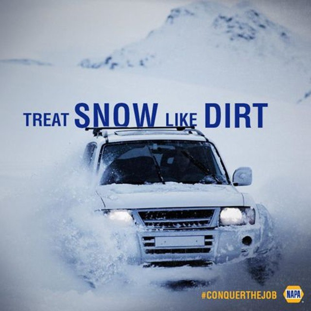 Some people dread winter storms. We look forward to them. #ConquerTheJob #snow