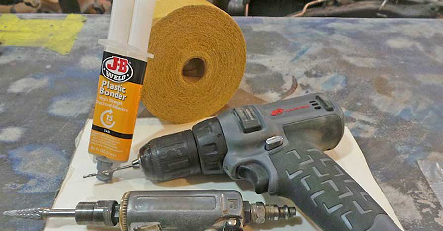 Fiberglass Repair with JB Weld Plastic Bonder