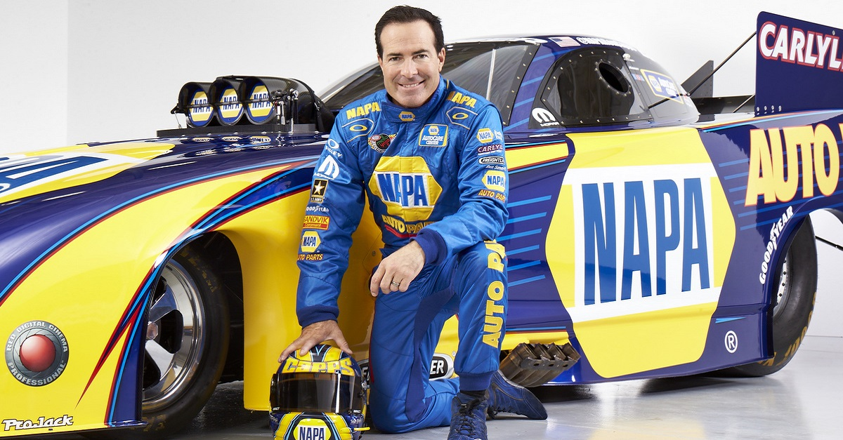 Ron Capps 2015 NHRA Season Circle K Winternationals prerace