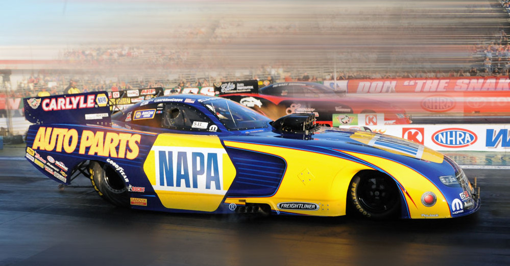 Ron Capps NAPA AUTO PARTS NHRA Funny Car Pomona 2015 passenger side