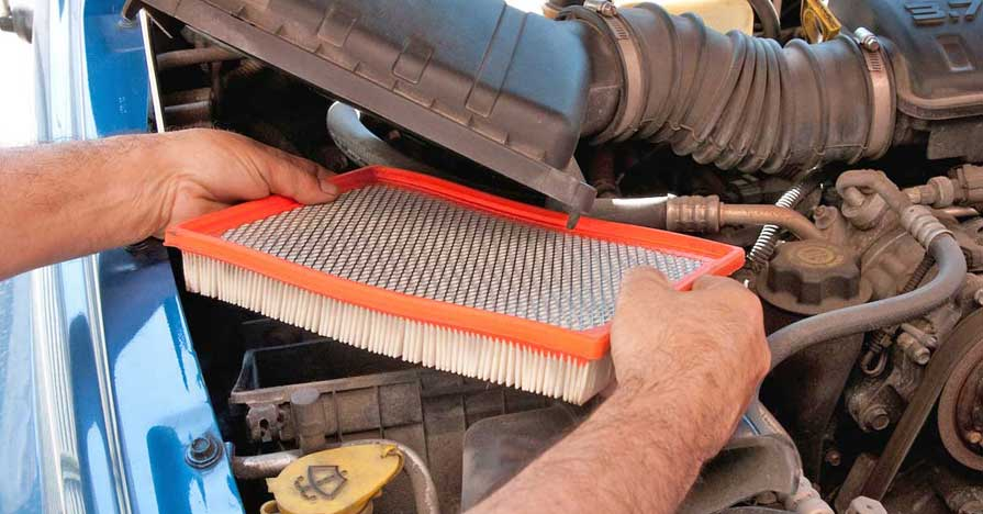 Air filter guide