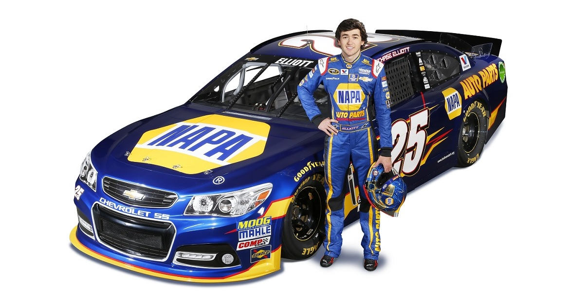 Chase Elliott Makes Sprint Cup Debut with NAPA On Board