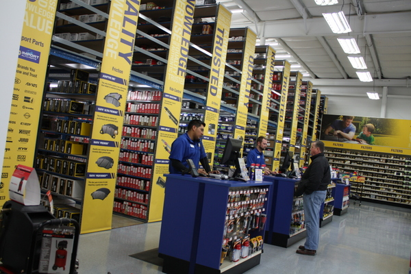 NAPA AUTO PARTS Merchant's Walk Grand Opening counter