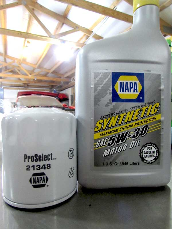 "NAPA synthetic 5W-30 for our Briggs and Stratton engine. Don't forget to change the filter.We used <a href=""&quot;https://www.napaonline.com/en/p/NO_75520&quot;"" target=""&quot;_blank&quot;"" rel="