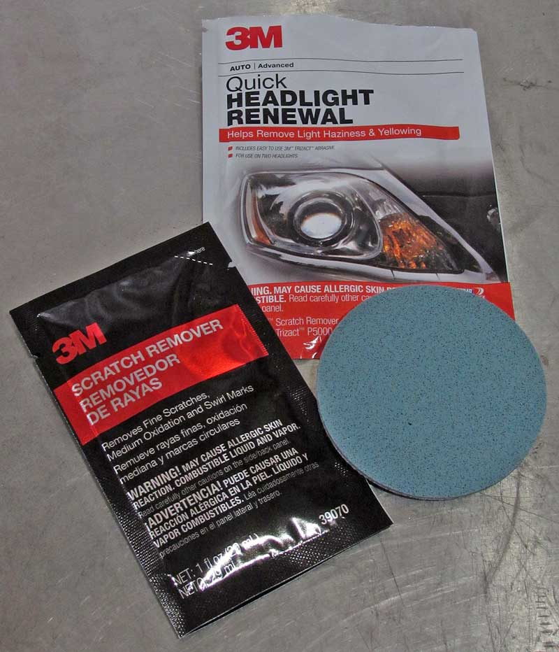 The most basic is the Quick Headlight Renewal pack, this is for the slightest haze.