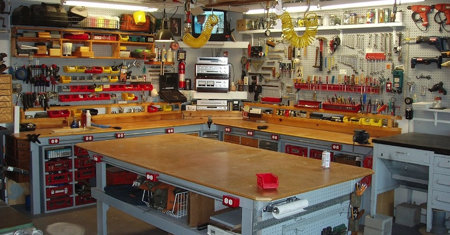 five pro tips for setting up a garage workbench for diy car repair - How To Build A Garage Workbench