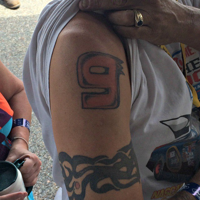 Bill Elliott and @ChaseElliott9 fans are dedicated. #Tattoo #Fans #NASCAR