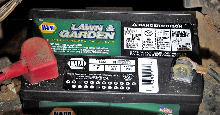 Keep your Lawn and Garden equipment in top condition with a new NAPA battery.
