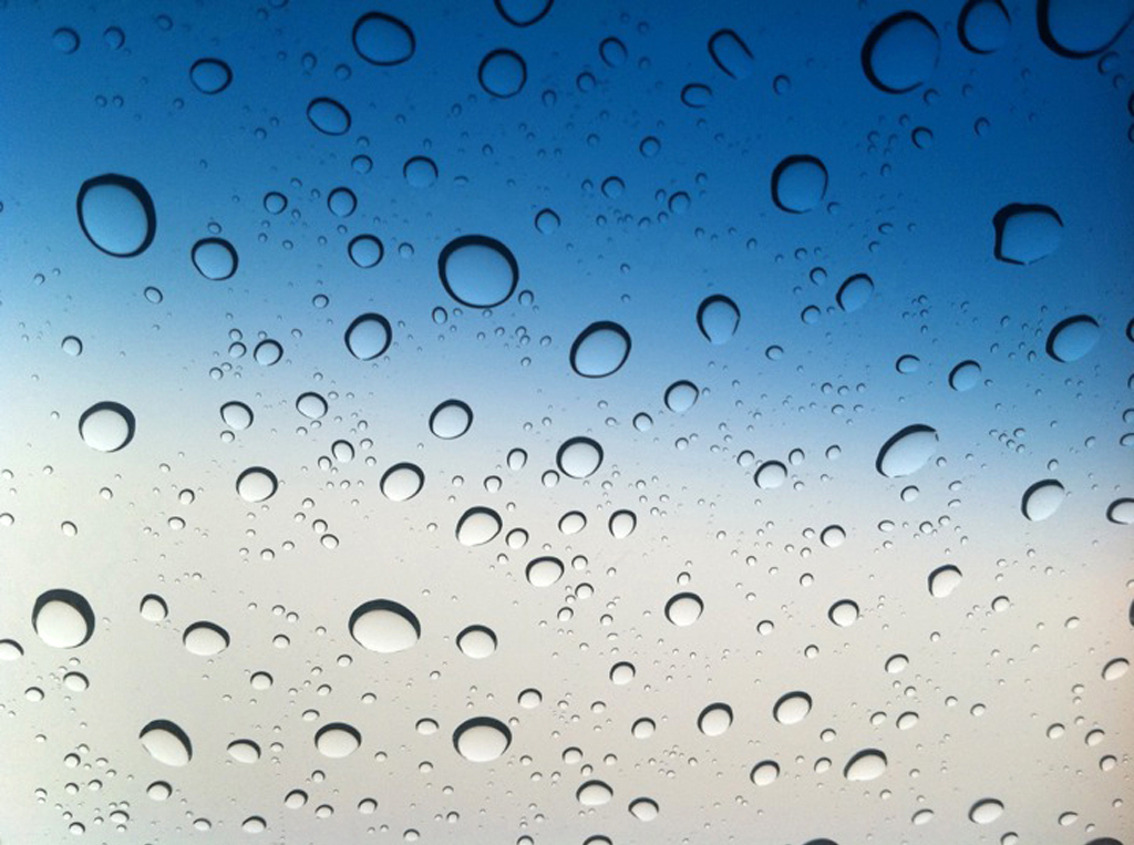 water droplets water repellant windshield wiper fluid