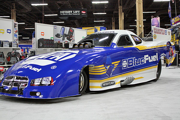 NAPA EXPO cars Blue Fuel Funny Car