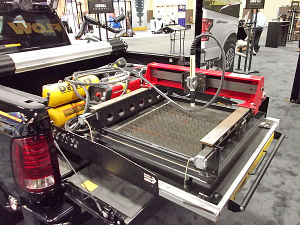 NAPA EXPO cars pickup bed CNC plasma cutter