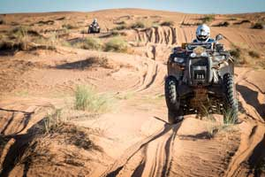 Navigating the dunes in Morocco