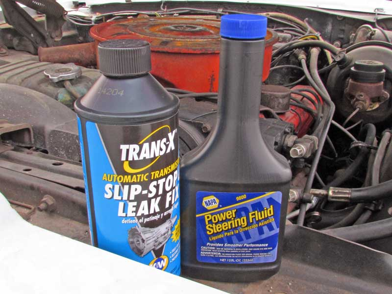 It is a good idee to flush out the power steering pump and gearbox every couple of years to clear out contaminants.