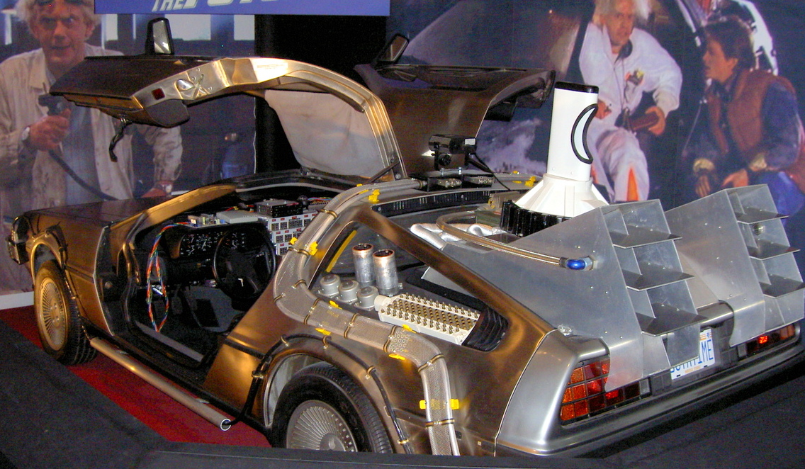 The famous Delorean