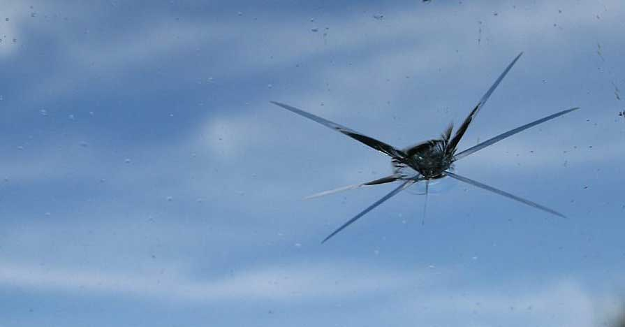 Stop a windshield crack from getting worse