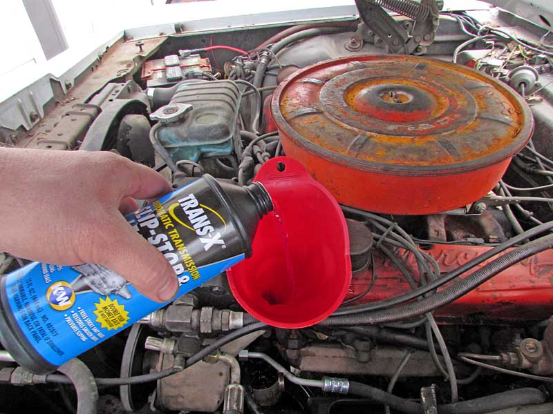 Pour about half the bottle into the reservoir, replace the cap and then drive the vehicle for about 15 minutes to get the flush working.