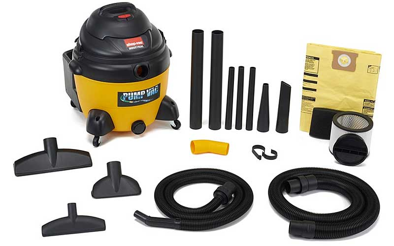 Shops and garages get messy, a Shop-Vac® vacuum gets the job done with ease.