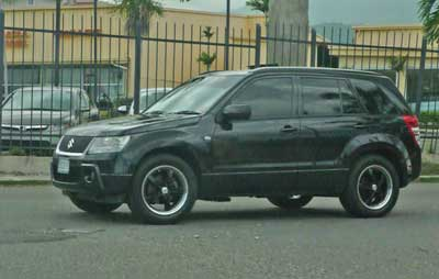 Tinted windows on a SUV