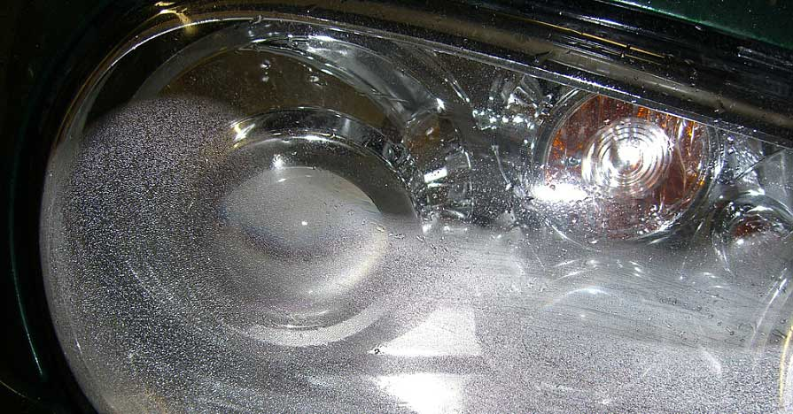 Headlight condensation isn't ugly, it's unsafe!