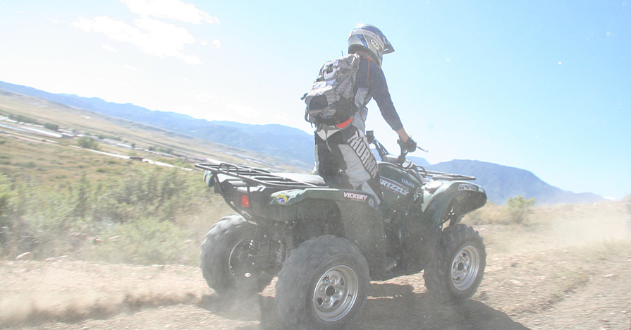 ATV and UTV ride on trails