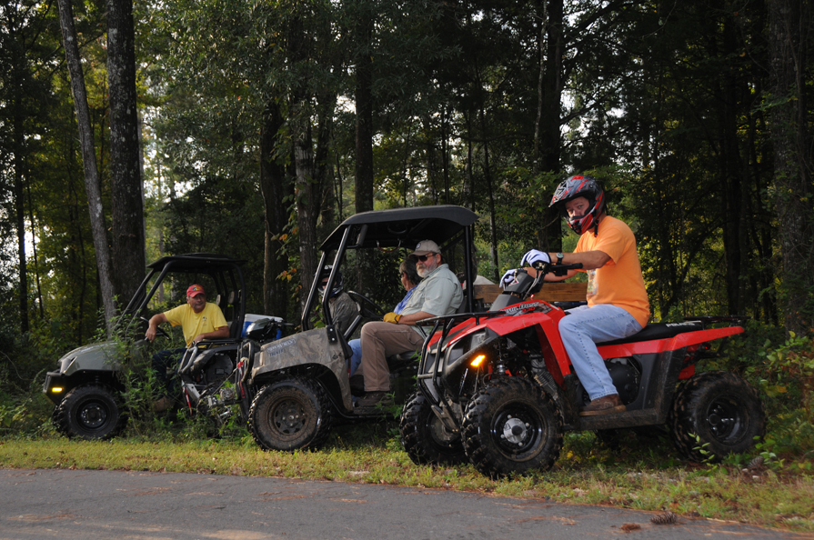 ATV and UTV trail ride