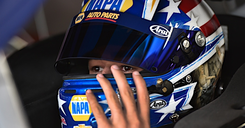 Chase Elliott during NXS practice at New Hampshire Motor Speedway in Loudon, NH.