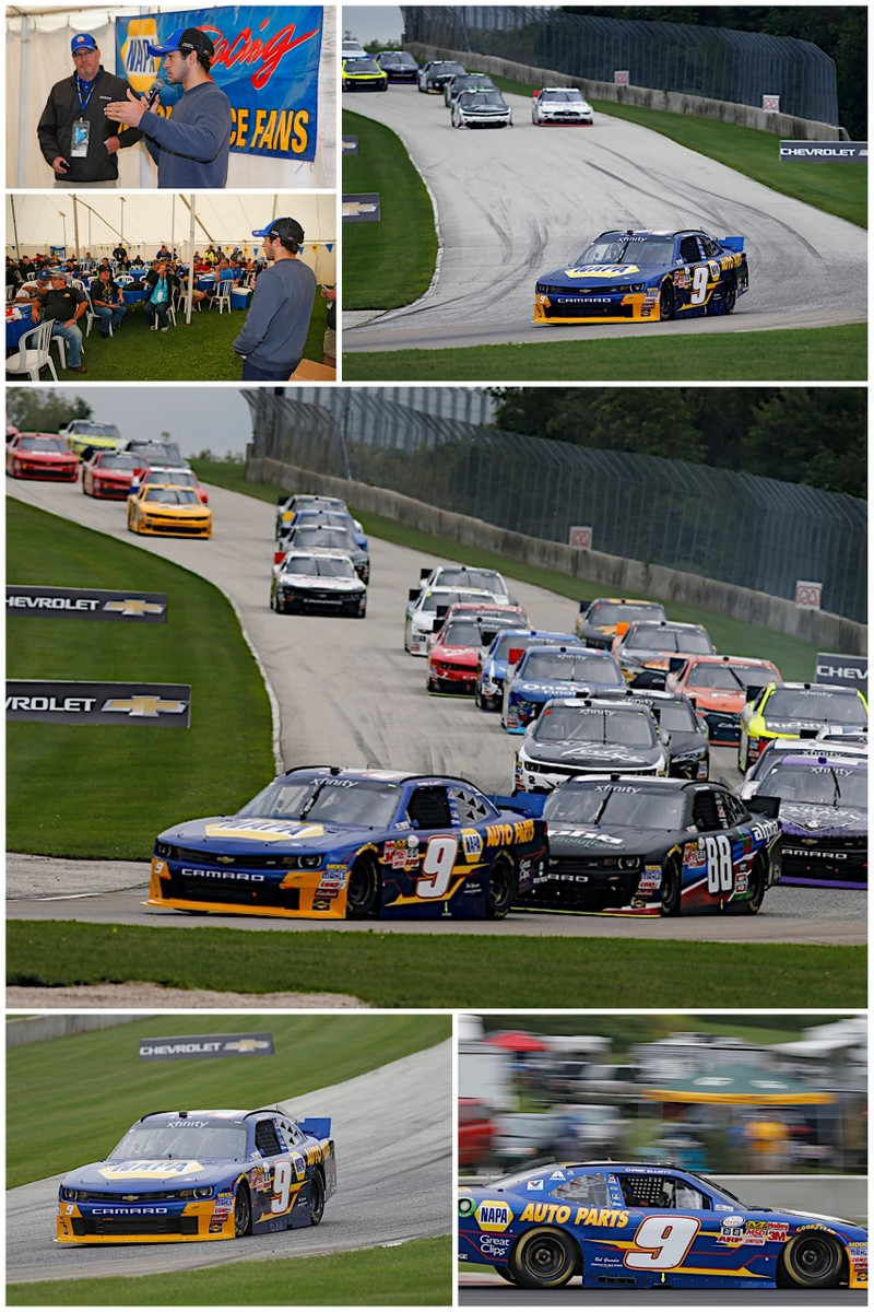 Chase Elliott NAPA AUTO PARTS JR Motorsports NASCAR Xfinity Road America 2015 collage