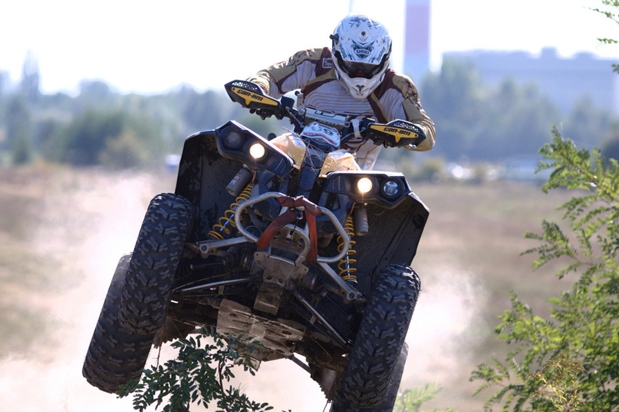 Guy riding a quad