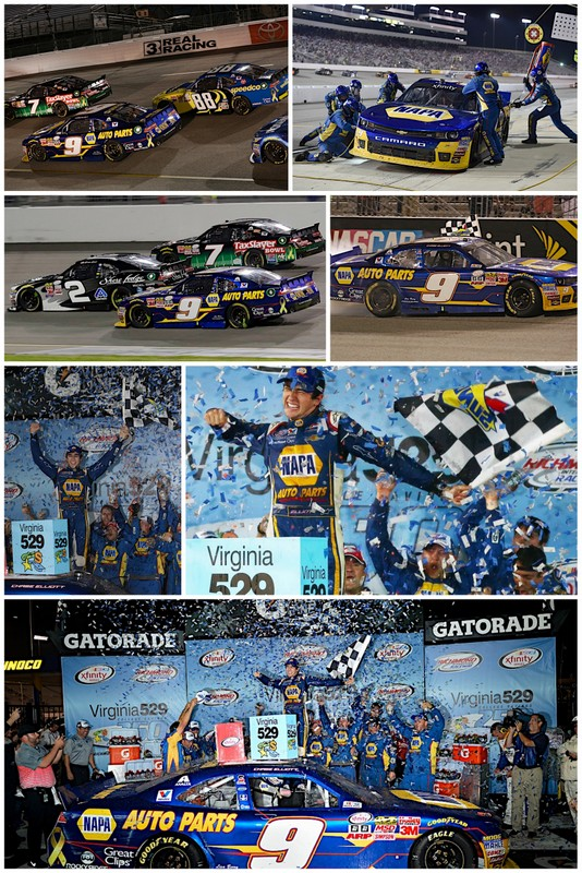 Chase Elliott wins Richmond 2015 NAPA AUTO PARTS JR Motorsports collage