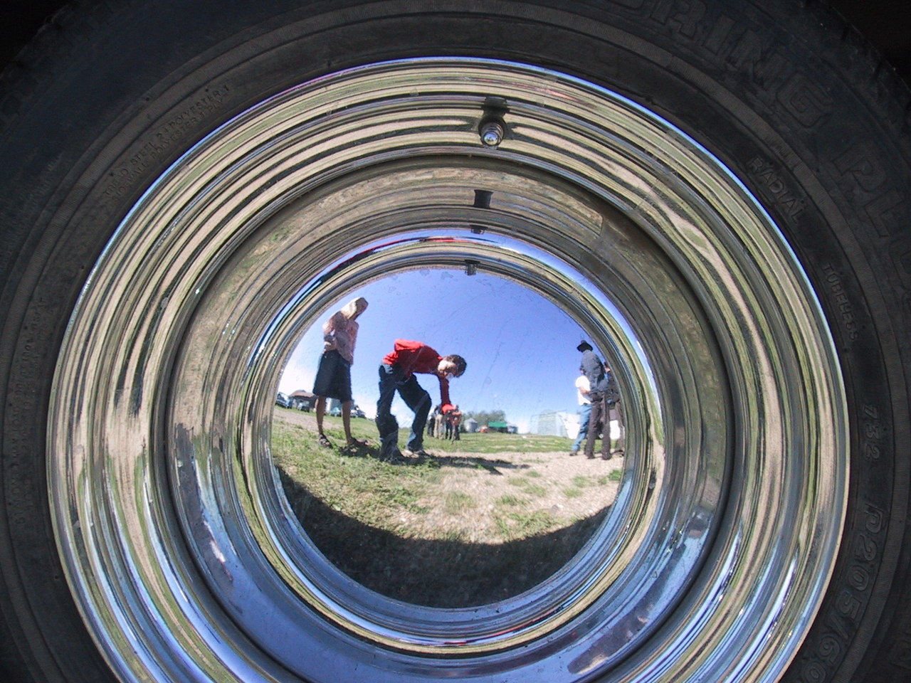 Hubcap Reflection