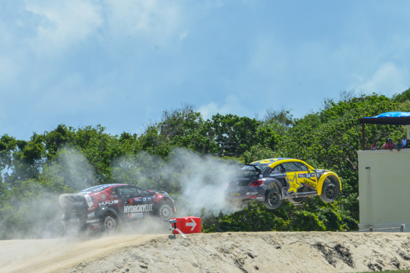 Tanner Foust Red Bull GRC Barbados victory airborne 1