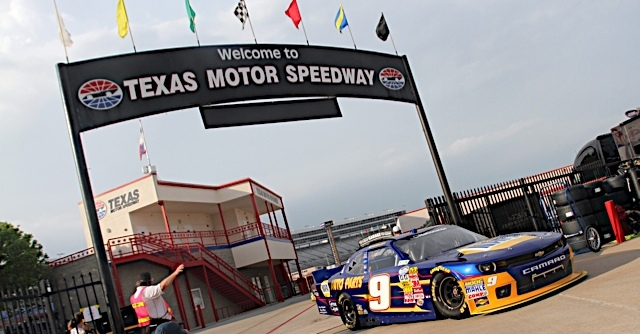 Chase Elliott during practice for the O'Reilly Auto Parts 300 at the Texas Motor Speedway in Fort Worth, Texas.