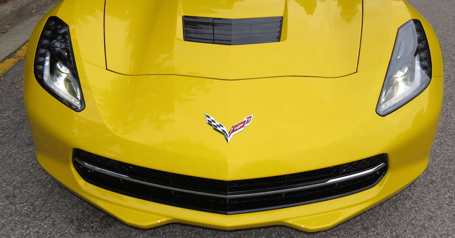 Close up, Chevrolet Corvette Stingray.