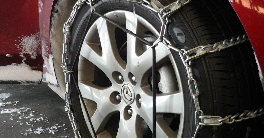 Chains on Radial Tires