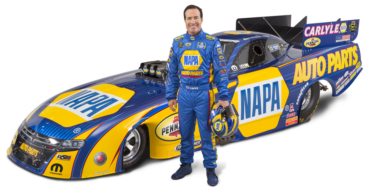 NHRA Ron Capps 2016 NAPA AUTO PARTS Funny Car paint scheme feat
