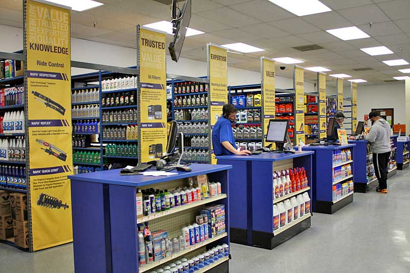 NAPA AUTO PARTS Atlanta Main Counter Grand Reopening service counter