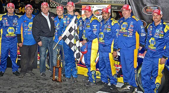 Todd Gilliland NAPA AUTO PARTS BMR NASCAR KN Pro Series New Smyrna Win Team