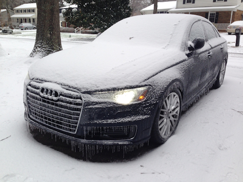A 2016 Audi A6 Covered In Ice