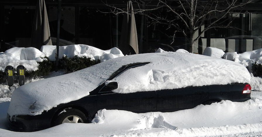blizzard buried car