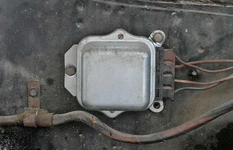 Older vehicles (mid 70s and older) used external regulators. These are easy to replace, but they are notorious for intermittent issues.