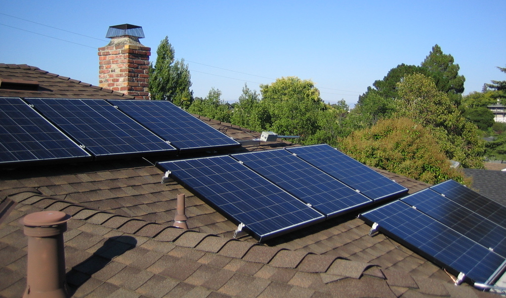 Rooftop Solar Panels, the current best solution for electric vehicle charging.