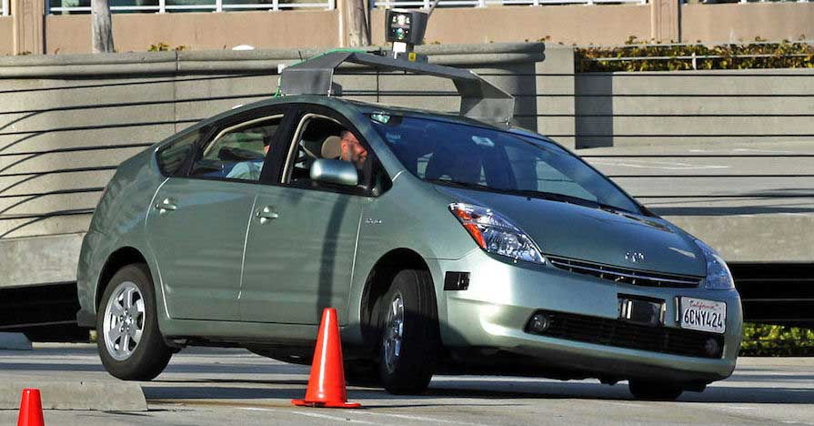 Self-driving car on obstacle course