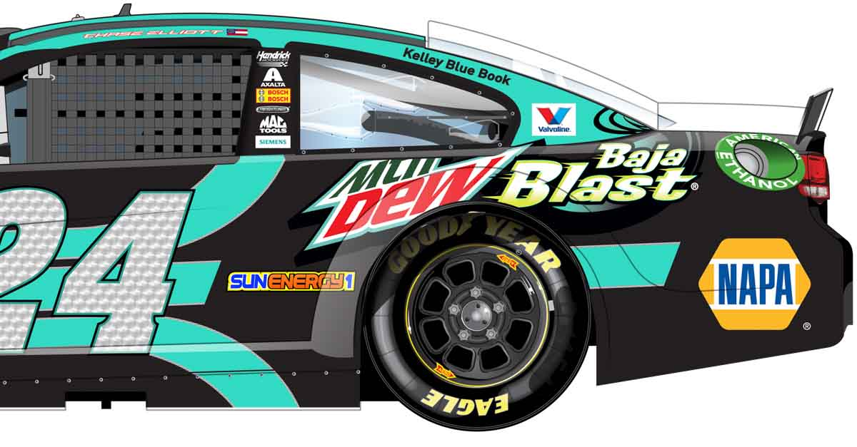 Chase Elliott Richmond International Raceway Dew 24 NAPA AUTO PARTS