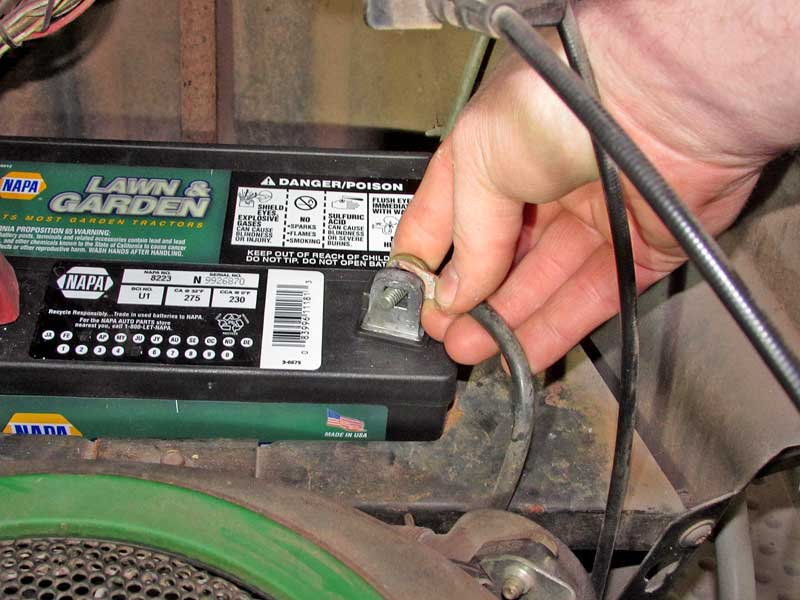 It is a good idea to replace the fasteners for your battery cables when changing the battery. If the bolts strip out, you could lose connection, which can mimic a faulty battery.
