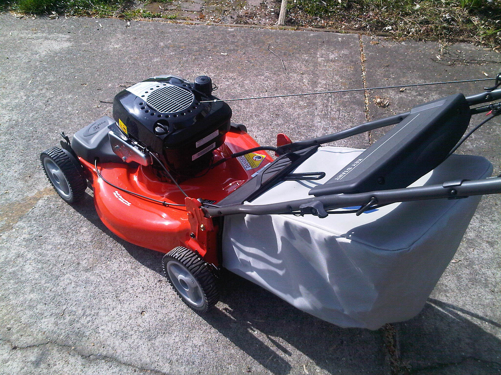 Shiny new lawn mower
